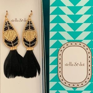 Wisten Feather Earrings NIB